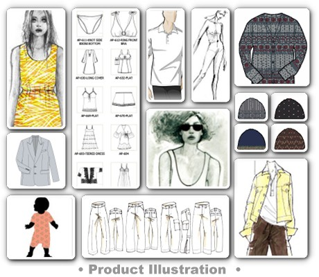 IllustrationsTechnical Garment Illustrations & SketchesHave us create stylized dimensional figures, product renderings and technical drawings. Contact Us Today!